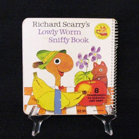 15% OFF Vintage Richard Scarry Book Lowly Worm Sniffy Book